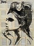 Feelingathome-Leinwand-Bild-Etheral-cm74x55-Kunstdruck-auf-Leinwand