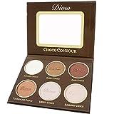 Bronze Puder Highlighter Make-up Gesichtspuder-Palette Kontur Kit Schokolade Geruch