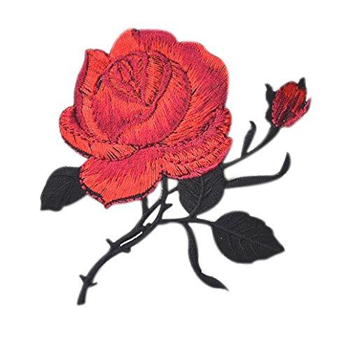 Diy Tuch (FORH Blume Applikationen Kleidung Stickerei Patch Aufkleber Blühen Nähen Sie das Tuch DIY Stickerei Aufkleber (8.8cm x 9.2cm, C))