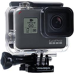 Wealpe Remplacement Boîtier Etanche pour Plongée Coque de Protection Compatible avec GoPro Hero 7 Noir, 6, 5, Hero (2018) Caméras