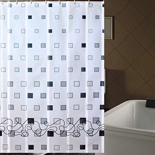 ZBB Erru Duschvorhang im Wasser und Warme Dicke Halten mit Dem Test der ildewproof Bad WC Wasserdicht Partition (Vorhänge Größe: 180 cm * 180 cm).