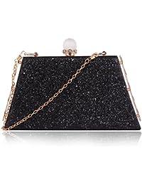 Suaveness Glittery Black Color Sling Bag For Women
