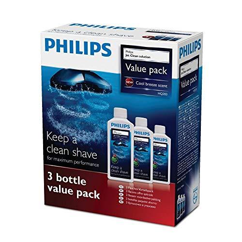 Philips Rasierer Reinigungsflüssigkeit HQ203/50, 3 x 300 ml, 3er-Pack - Persönliche Touch Rasierer