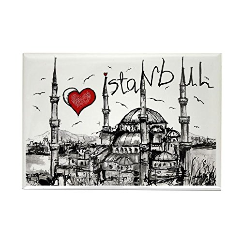 CafePress–I love Istanbul–Rechteck Magnet, 5,1x 7,6cm Kühlschrank Magnet Magnet Kühlschrank Abdeckung