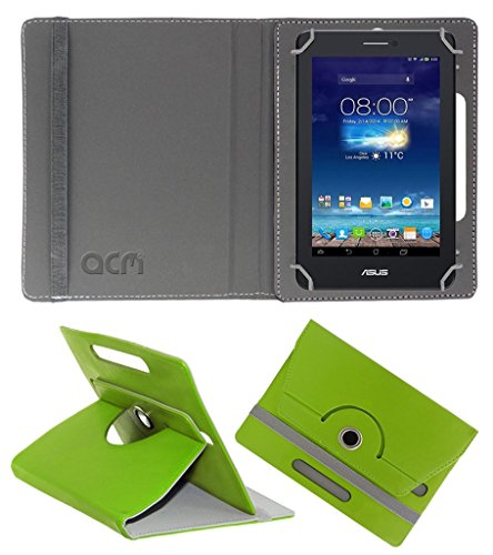 Acm Rotating 360° Leather Flip Case for Asus Fonepad 7 Me175cg-1a007a Cover Stand Green  available at amazon for Rs.149