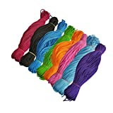 #7: Style Up Set of 8 Nylon 2mm Macrame Cord (40 Meters Every Cord) 6 ply Nylon Knotting Poly Propylene Cord for Macrame (Approx - 100 Grams) Ideally Used for Jewelry Making, Bags, Jula Macking Various Other Craft Projects.