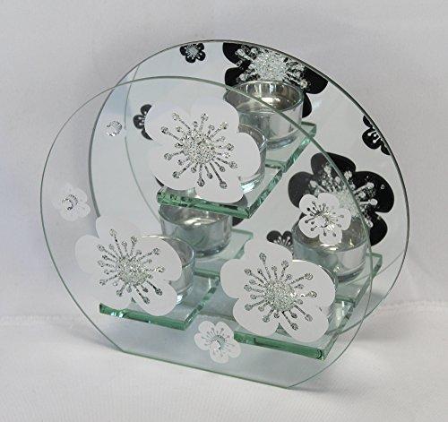 hthalter (für 3 Teelichter, Motiv: Blume) ()