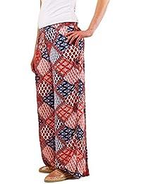 Object Abigail leichte Sommerhose mit Boho Hippie Muster extra luftig