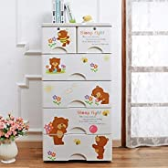 Drawers Storage Cabinets with 5 Drawers for Kids Room,Bedroom,Nursury,Home (1265)