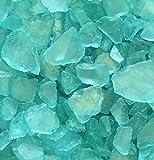 Seeglas, Glasscherben. Größe ca 20-50mm. 1 KG. Gefrostet mint TÜRKIS -81