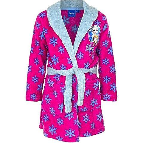 Disney Frozen Die Eiskönigin Bademantel für Kinder, pink/blau, Gr. 110