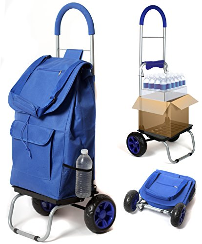 trolley-dolly-blue-shopping-grocery-foldable-cart
