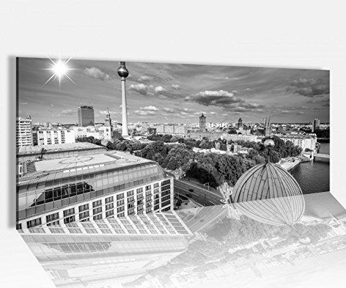 Acrylglasbild 100x40cm schwarz weiss Berlin Skyline Stadt Fernseherturm Acrylbild Acryl Druck Acrylglas Acrylglasbilder 14A8848