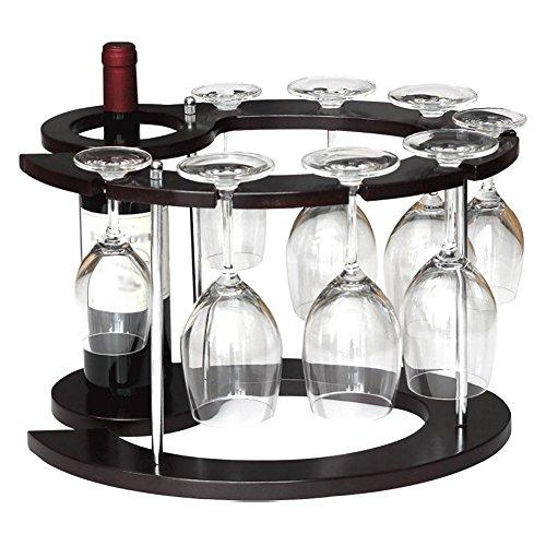 Holz Display Regal Weinregal Einzelne Flasche invertiert Hohen Becherhalter europäischen Stil (Weinkühler Flasche Einzelne)