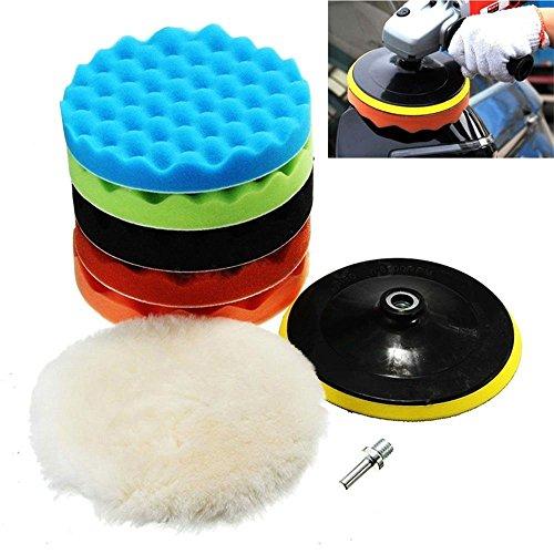 Wady 715,2cm Polieren Pads Schwamm und Wolle Polieren Waxing schmirgelpads-Kits mit M14HSS-Adapter