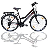 Talson 26 Zoll Fahrrad 21-Gang Shimano Schaltung mit Beleuchtung Nach STVO Schwarz Doppelrahmen