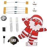 Artistic9 Weihnachtsbeleuchtung DIY Weihnachtsmann Form Led Farbwechsel Musik Nachtlampe mit 7 Songs Handgemachte Batteriebetriebene Weihnachtsbaum Dekoration Anhänger