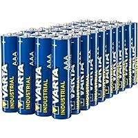 Varta Confezione Industrial 40 Batterie Alcaline, Tipo AAA, Ministilo LR3 Micro