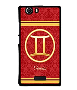 Fuson 2D Printed Sunsign Gemini Designer back case cover for Micromax Canvas Nitro 2 E311 - D4396