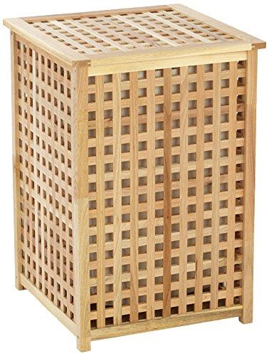 Wenko 18602500 cesto portabiancheria con sacco per biancheria, in noce, 46,3 x 67 x 46,1 cm, colore: marrone