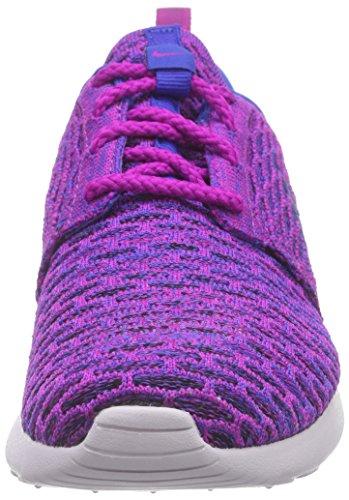 Nike Roshe Flyknit Damen Laufschuhe Violett (Fuchsia Flash/Gm Royal-Blk-Vnc 501)