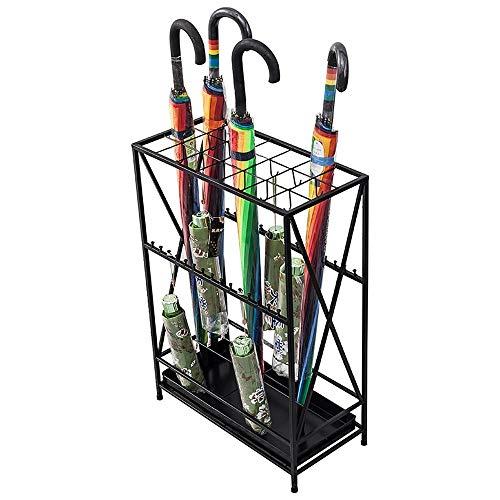 HYXQYYSJ Schirmständer mit Haken und Tropfschale Ständerhalter für Sonnenschirm Cane, quadratisch, schwarz-50x24x70cm ++