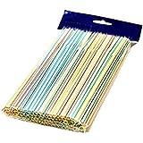 Bestmall 23cm 100Pcs Disposable Flexible Straws Plastic Drinking Supplies