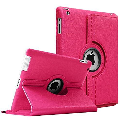 iPad 2 3 4 case. MOCA 360°Degree Rotating PU Leather Smart Flip...
