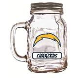 NFL San Diego Chargers Duckhouse 20 Ounce Mason Jar