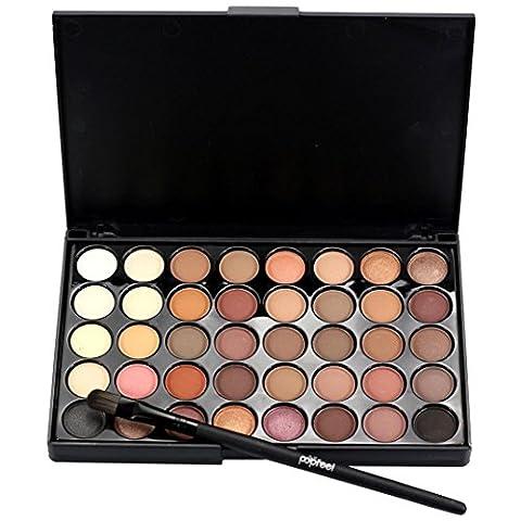 Tefamore Kosmetik Matte Lidschatten Creme Make-up Palette Schimmer Set 40