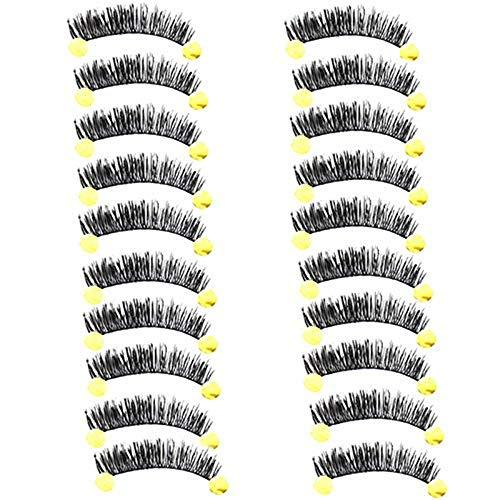 kashyk Handgemachte falsche Wimpern, Dicke Locken, natürliches Schwarz, vergrößerte Augen, erweiterter Eyeliner, natürliches Make-up, Make-up/Hochzeit/Foto/wiederverwendbar (Anwenden Von Wimpern Falschen)