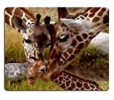 Forest Animals, Mouse Pads, Baby Giraffe Family Custom Cute Games, Office Computer Keyboard Special Mouse Pad