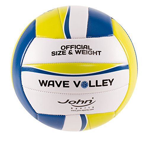 John 52804 - Volleyball Wave, Größe 4, 200 mm, circa 280 g, sortiert
