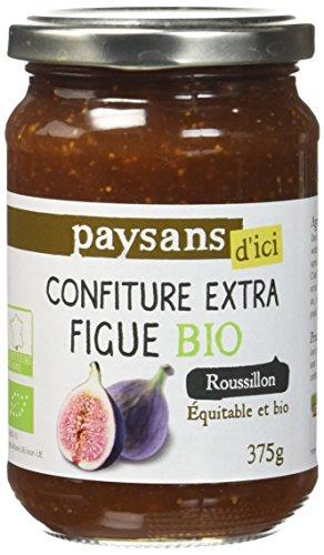 Ethiquable Confiture de Figue du Roussillon 375 g Bio Paysans d'Ici - Lot de 3