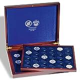 Leuchtturm 300729 VOLTERA Duo de Luxe Münzkassette für alle 5 DM Gedenkmünzen | Mit 2 Einlagen für 43 Münzen in Kapseln | Für die Jahre 1952-1986
