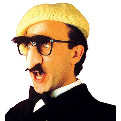 Brille mit Nase und Bart Groucho Nasenbrille Maske schwarz-hautfarben Spaßbrille Brillenmaske Lustige - Bart-maske