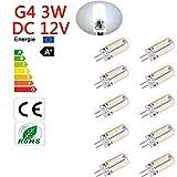 Kertou 10er G4 3W LED Kertou 10er G4 3W LED Birne Lampe Leuchtmittel Glühbirne Stiftsockel DC 12V Licht Kaltweiß
