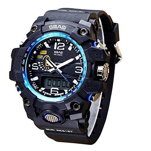 91de93053aab HWCOO SBAO Orologi 2018 nuovi sport di moda multi-funzione orologio  elettronico studente orologio quadrante