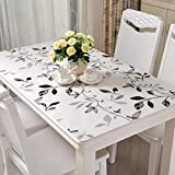 PVC Impermeabile Da tavolo protector, Trasparente Vetro morbido Tovaglie, Macchia Protezione scottature Coperchio della tabella-F 80x140cm(31x55inch)