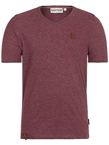 Herren T-Shirt Naketano I Love My Penis III T-Shirt, Bordeaux Melange, Gr. XL