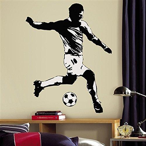 Hochwertiger Wandtattoo Tattoo Wand Tattoo Fussball Fußballspieler Fussballspieler künstlerisch mit außergewöhnlichem Design macht die Wand zu einen echten Blickfang