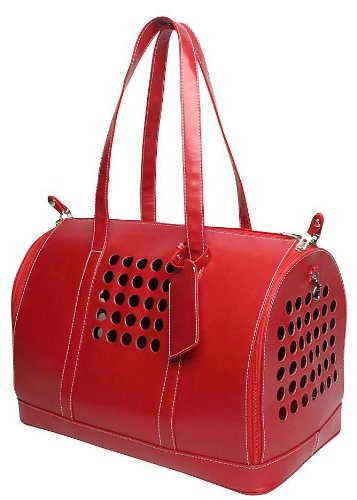 Bark-n-Bag Carrier One Collection Pet Carrier, Red