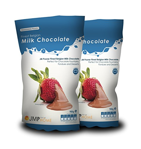 Milk Fondue Belgian Chocolate 2 x 900g for Baking, Fondues and Chocolate Fountains - Milk Chocolate by JM Posner Simply Entertaining Kochen Schokolade