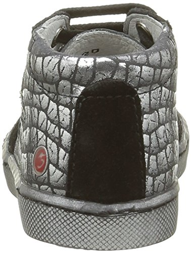 GBB Leto, Chaussures Lacées Fille Argent (11 Vtc Noir/Argent Dpf/2706)
