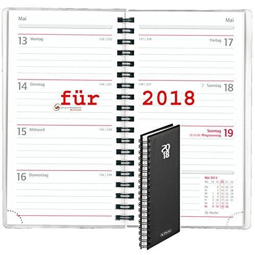 Herlitz 50010875 Spiralkalender Folie 2018