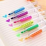 Surligneur Jysport, couleur pastel, marqueurs permanents excellent pour les enfants, pour colorier et fournitures de bureau, Needle tube highlighter 6pcs