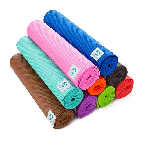 Yogamatte »Annapurna Comfort« - sehr rutschfest aus ECO-PVC hergestellt - die Matte Dank der rutschfesten Oberflächenstruktur angenehm bei Hautkontakt - zusätzlich ist die Matte rutschfest, strapazierfähig & langlebig. Maße: 183 x 61 x 0,5 cm - die ideale Unterlage für Yoga & Pilates blau