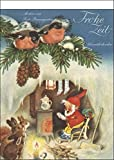 'Frohe Zeit' nostalgischer Adventskalender mit 24 Blättern zum Abreißen