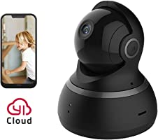 YI Dome Camera 1080p HD Wireless IP Security Surveillance Night Vision - Black US Edition