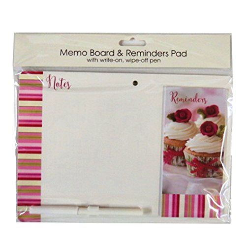 Lavagna magnetica con messaggio promemoria Pad e penna-Cupcake, misura 264mm x 185mm